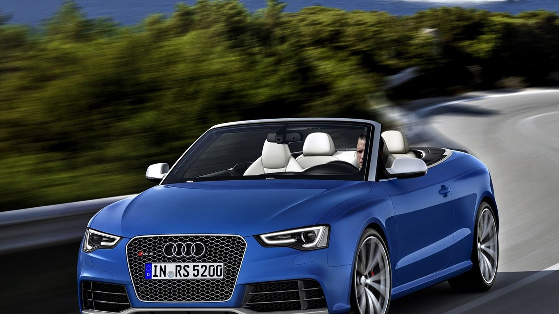 Audi RS5 Cabriolet  Sports Car HD Wallpaper