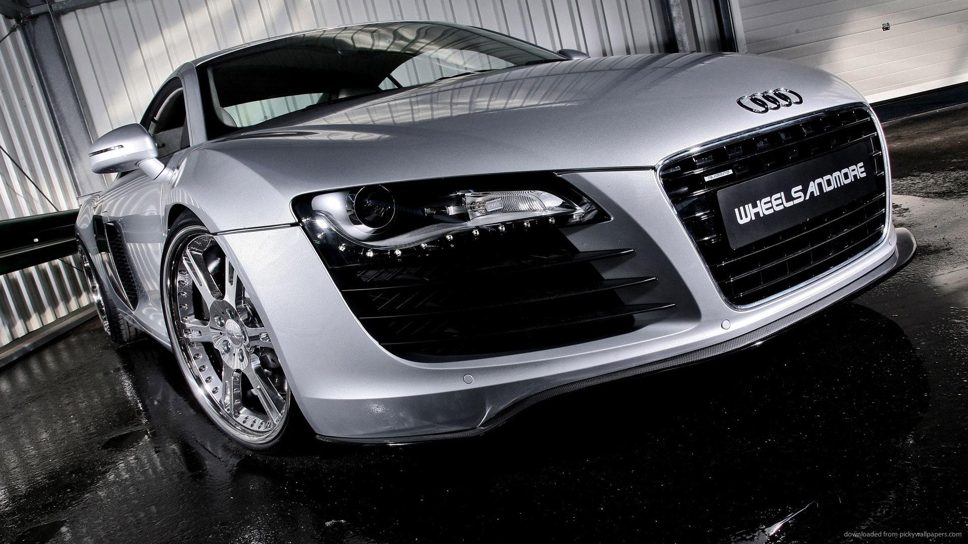 Download White Audi R8 HD Wallpaper