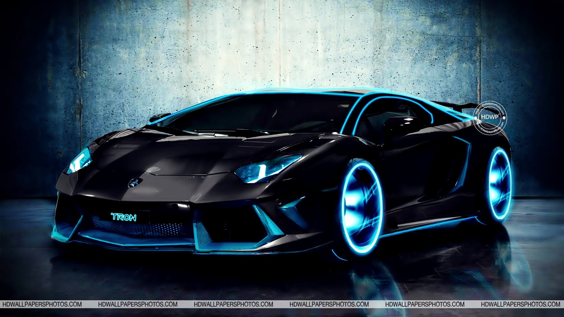 Download Free Tron Lamborghini HD Wallpaper