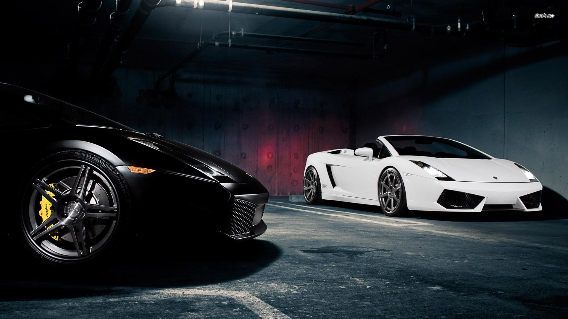 Lamborghini Sports Cars Black HD Wallpaper