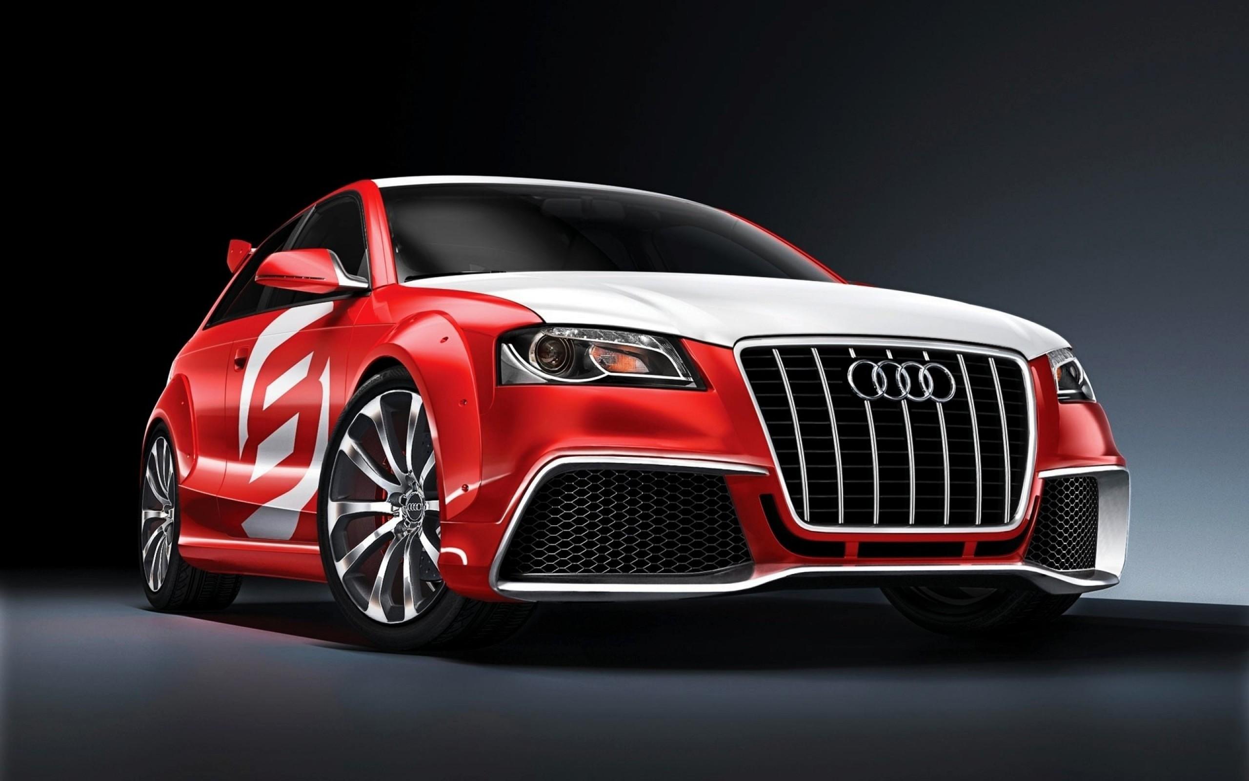 Cool red audi car HD Wallpaper