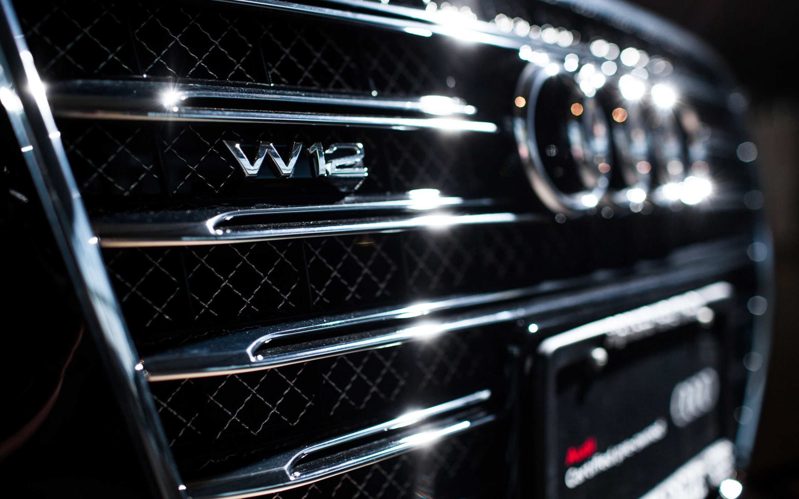 Audi  A8  W12  Badge HD Wallpaper