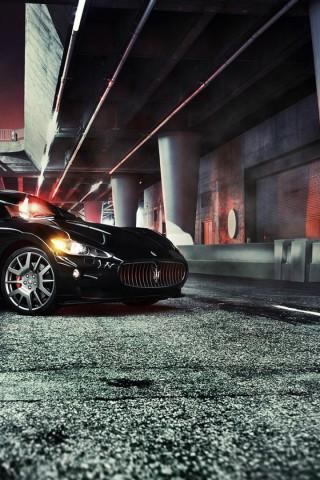 320 x 480 iPhone 3G 3GS   Maserati  GranTurismo  Black HD Wallpaper