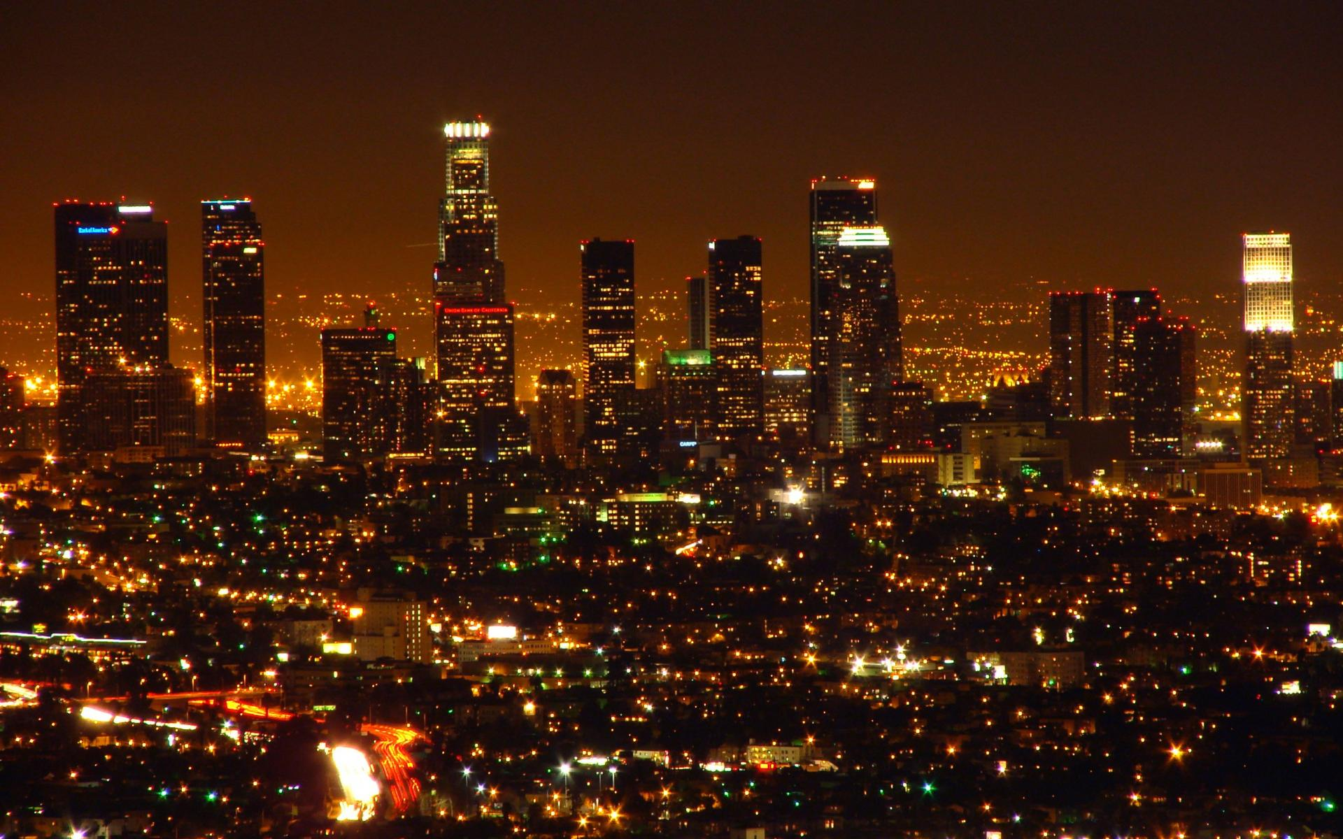 us com los angeles night wallpaper picture 1920x1200 hd