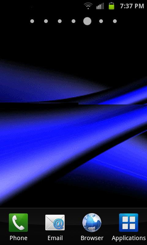 Blue Line Abstract Free HD Wallpaper