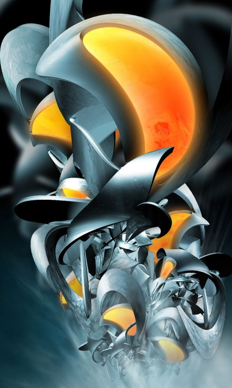 3d Abstract  Category Abstract  Resolution 480x800  Tags star  illustion  HD Wallpaper