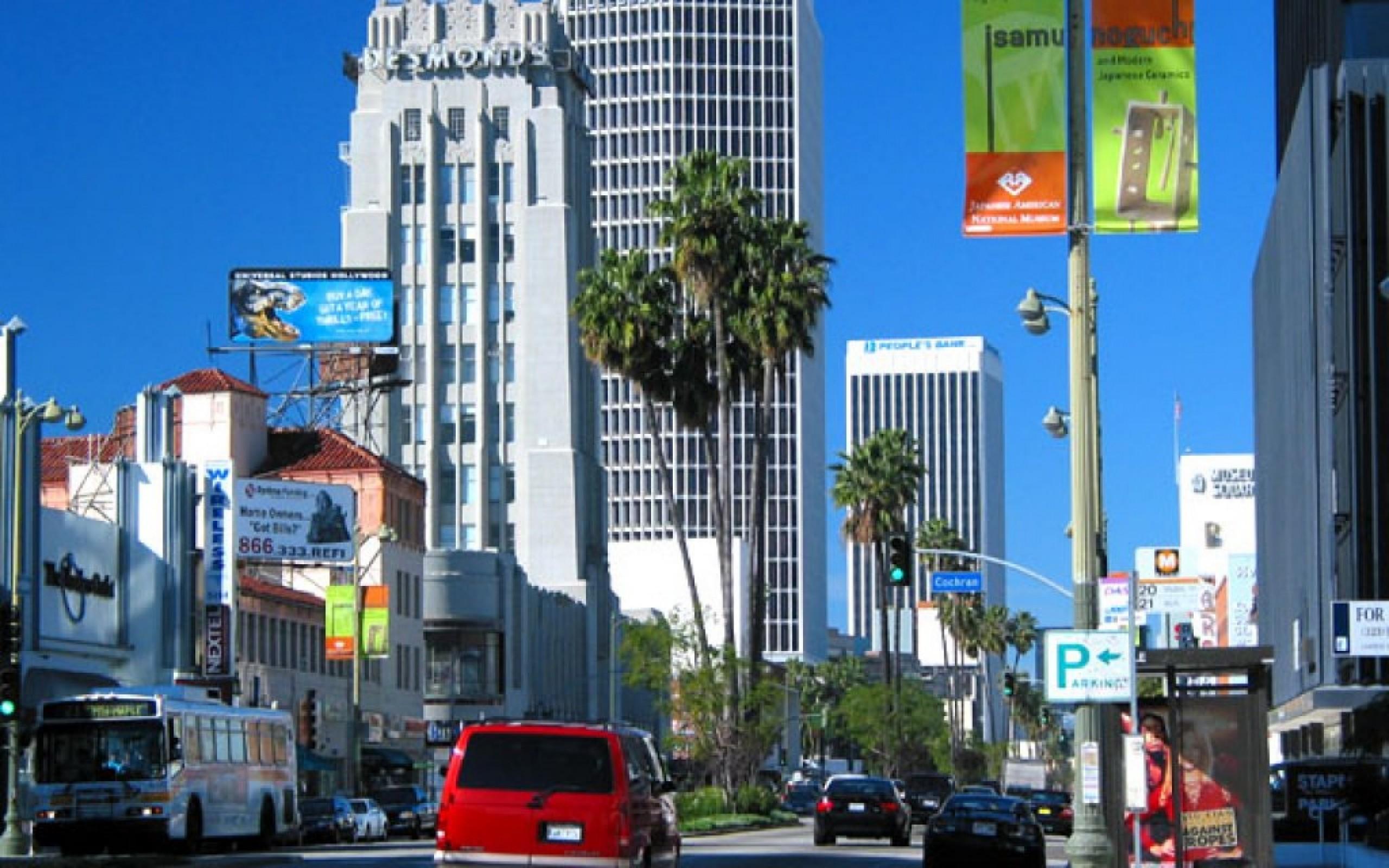 Wilshire Boulevard los angeles HD Wallpaper