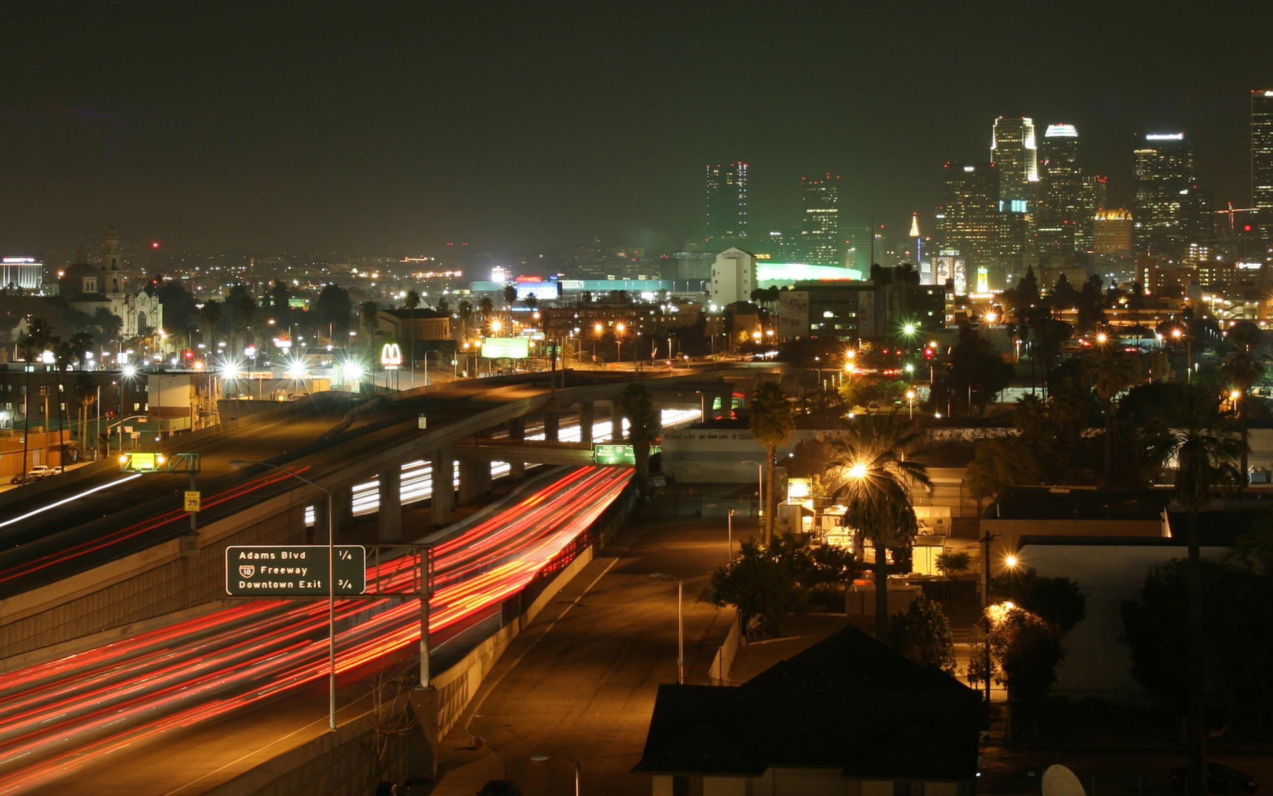 Night  Los Angeles  HD Wallpaper