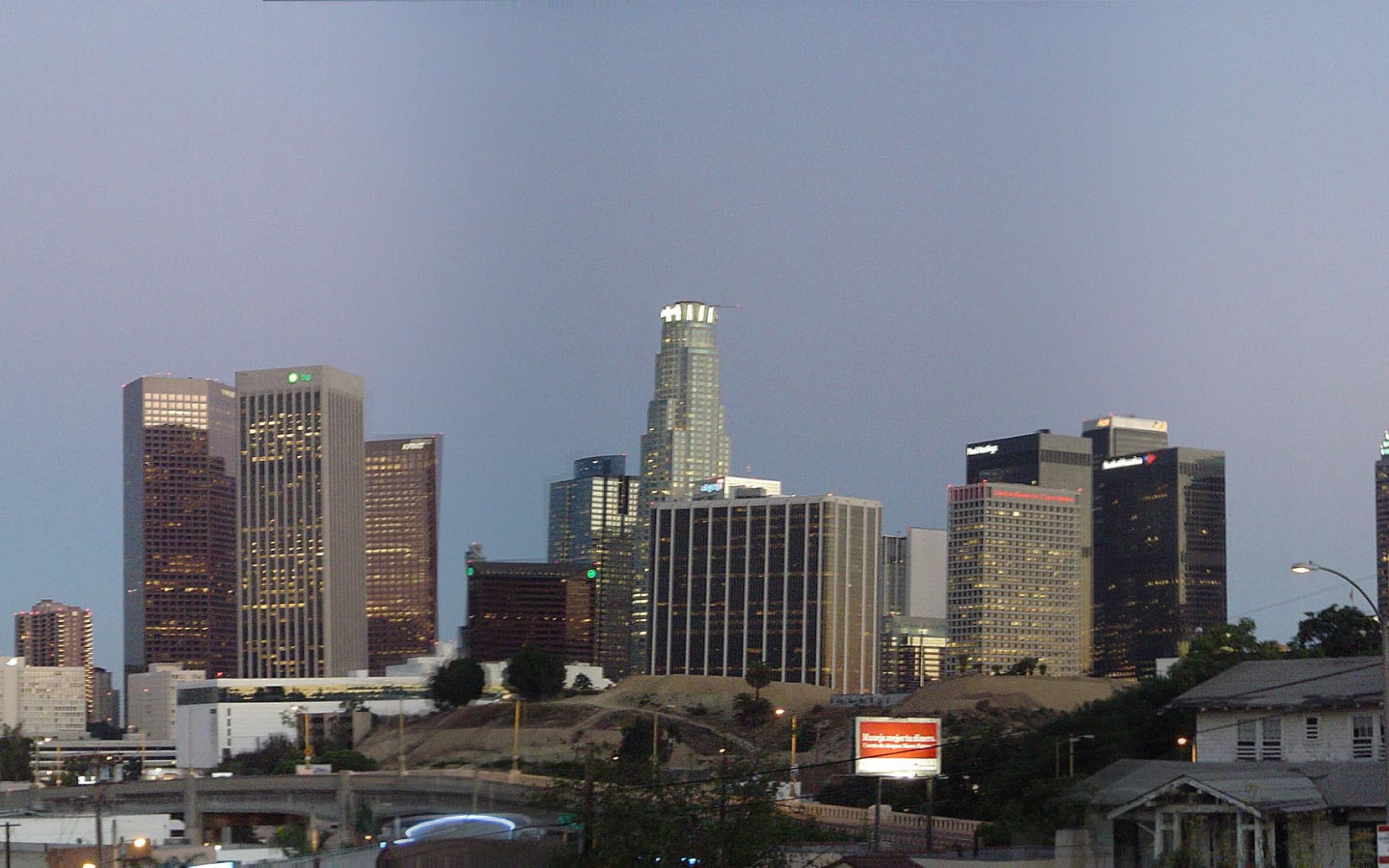 Los Angeles Skyline  United HD Wallpaper