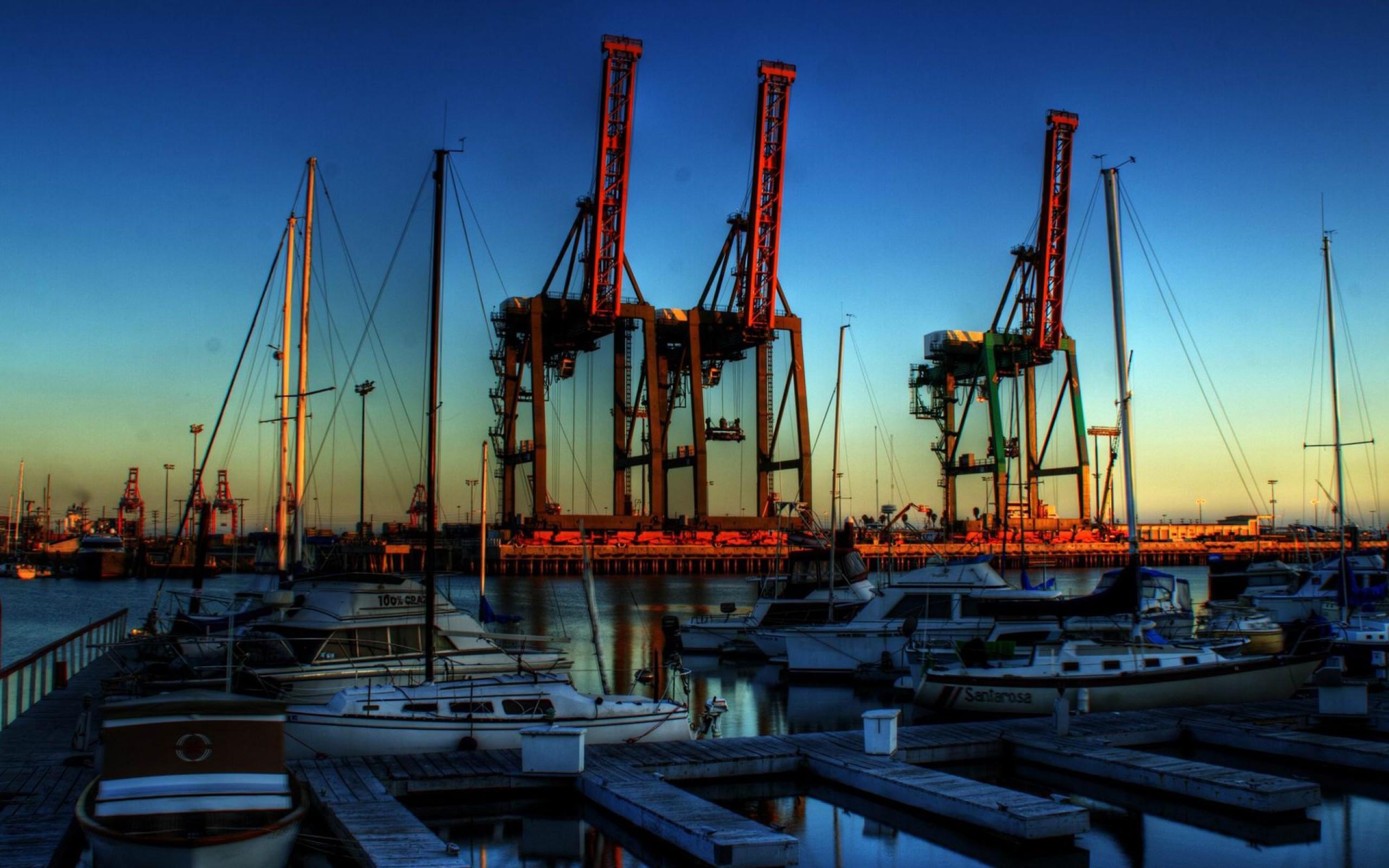 Port of Los Angeles  Sunset  HD Wallpaper