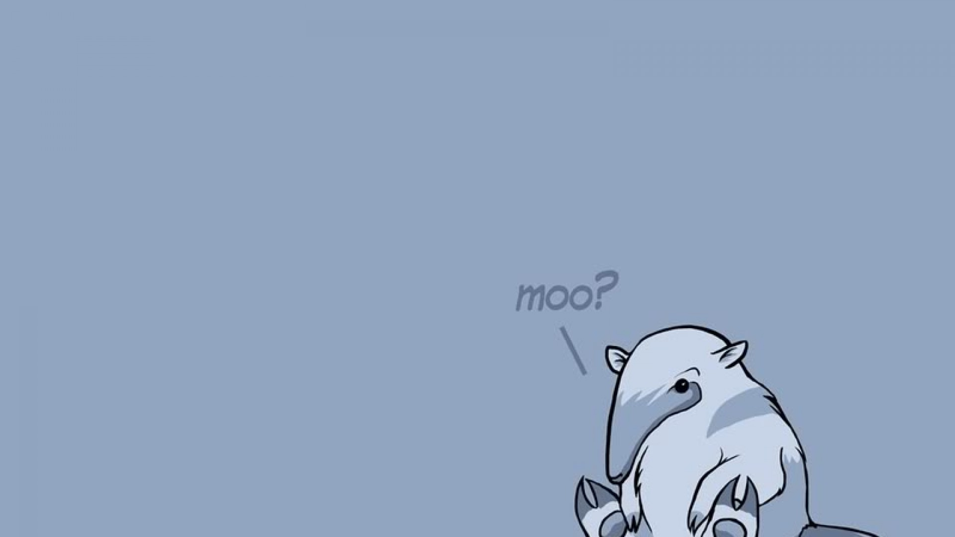 The Anteater Says Moo HD Wallpaper