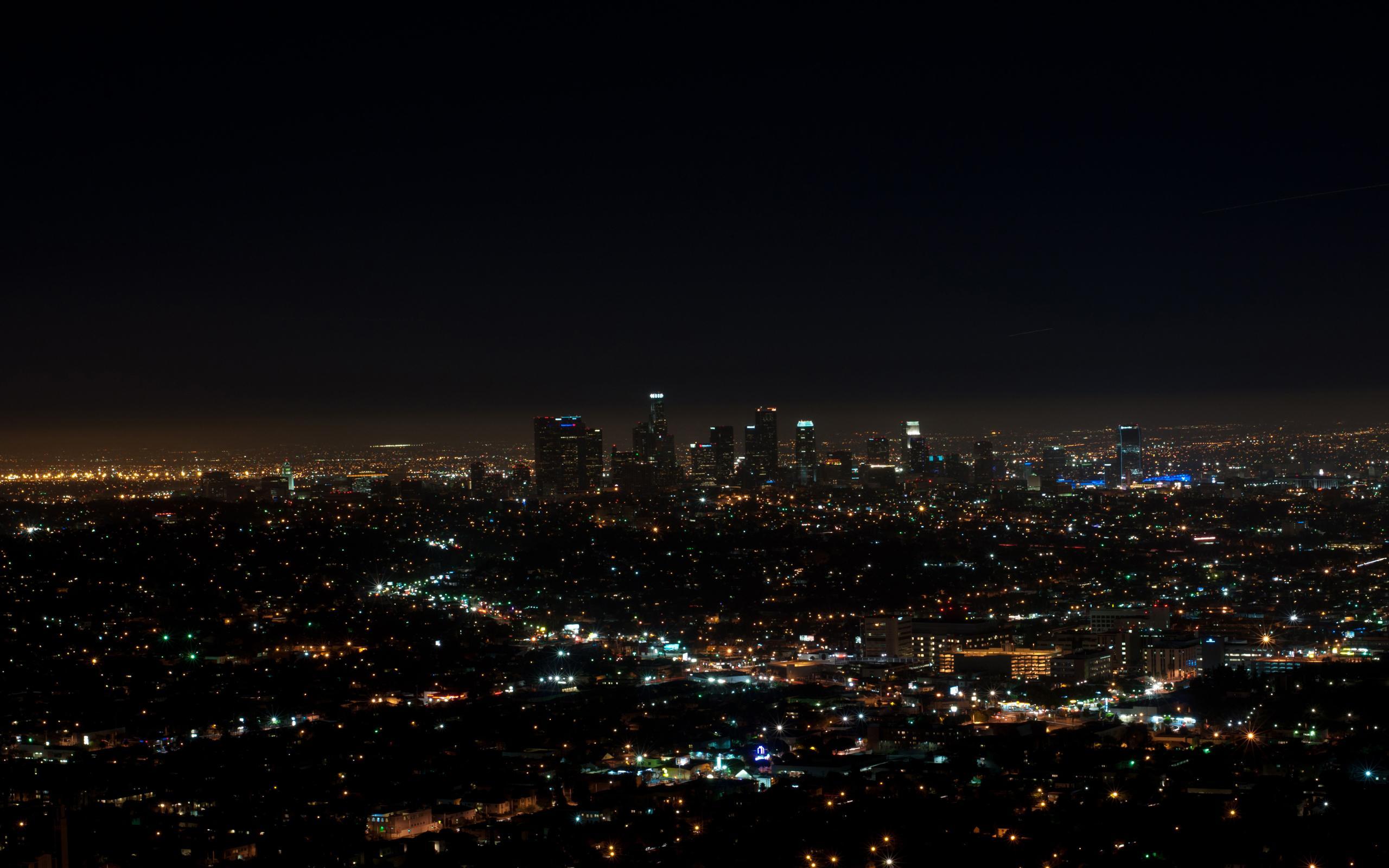 Los angeles night lights HD Wallpaper