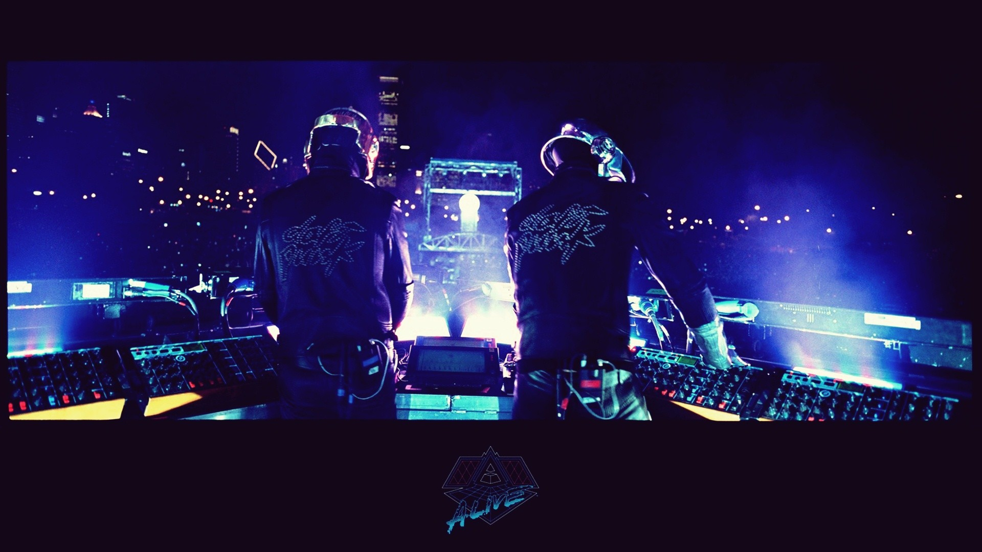 Music Daft Punk Concert Live HD Wallpaper