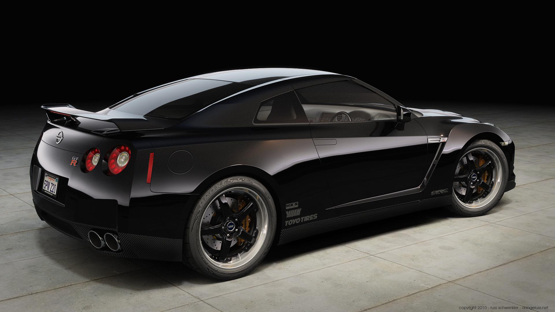 GTR in Black by  dangeruss on HD Wallpaper