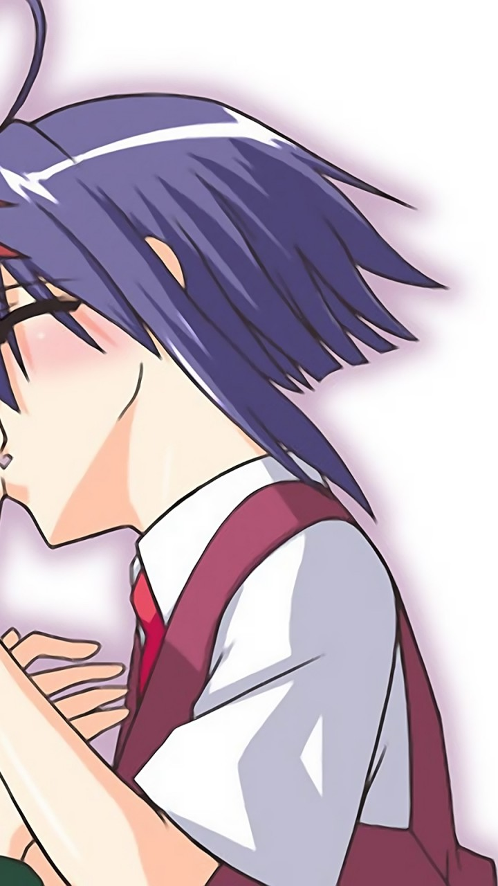 anime  boy  girl  kiss  tender HD Wallpaper