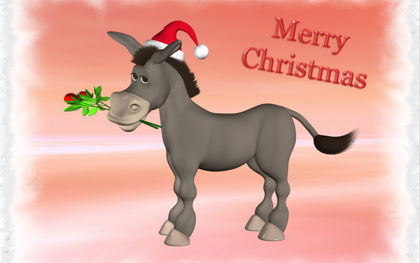 Christmas Donkey 23931 HD Wallpaper