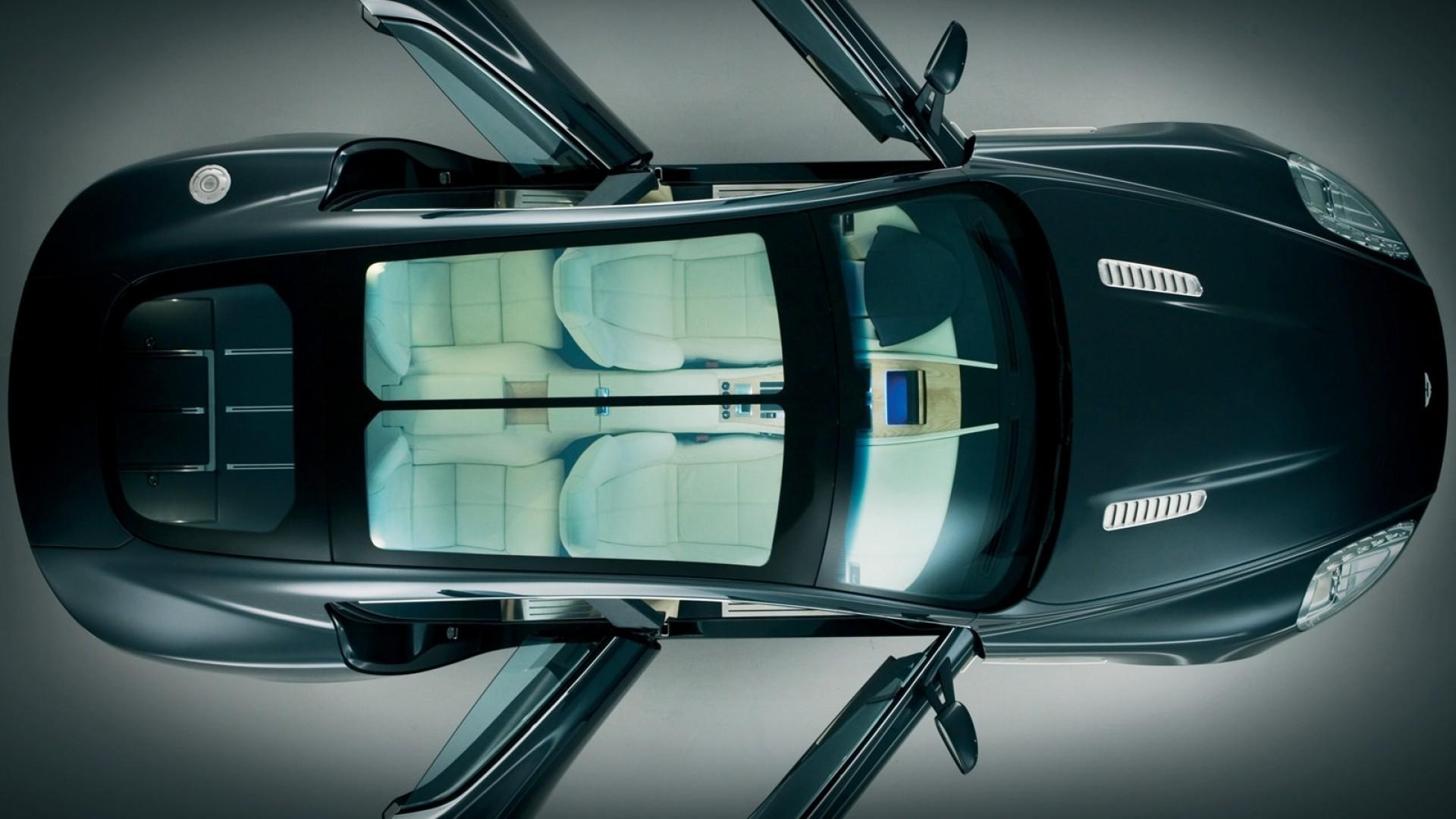 Aston Martin Rapide 2006  Hitam  Top View  Mobil Ko  HD Wallpaper