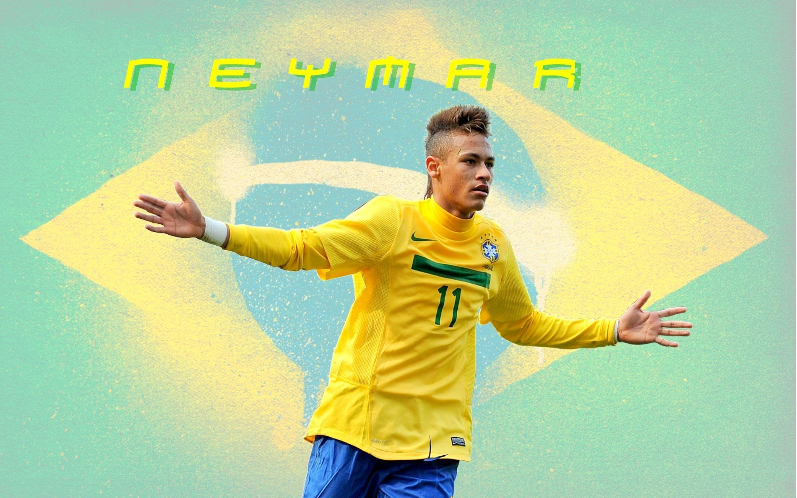 Neymar  Soccer  Brazil HD Wallpaper