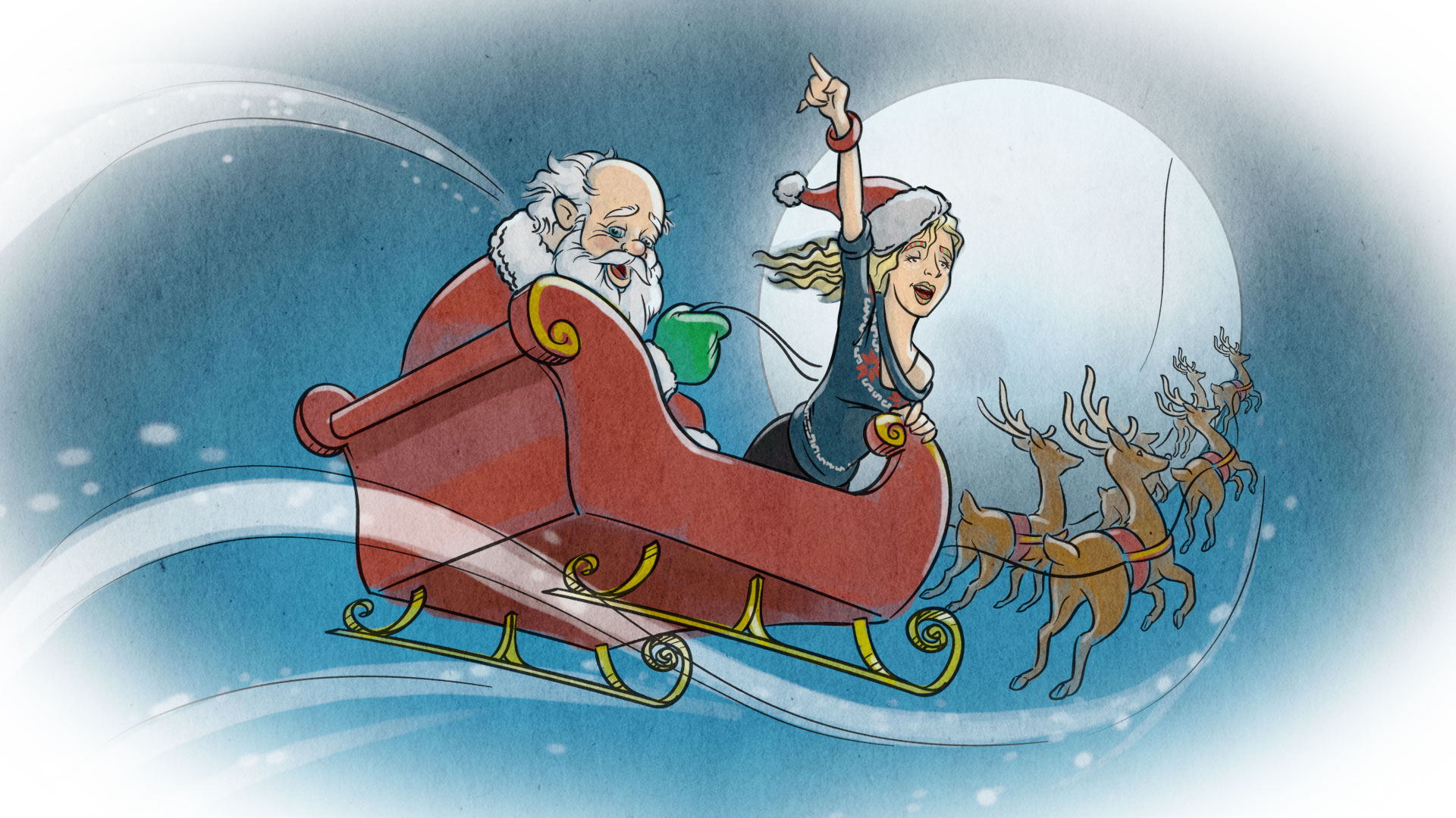 sleigh  merry  kesha HD Wallpaper