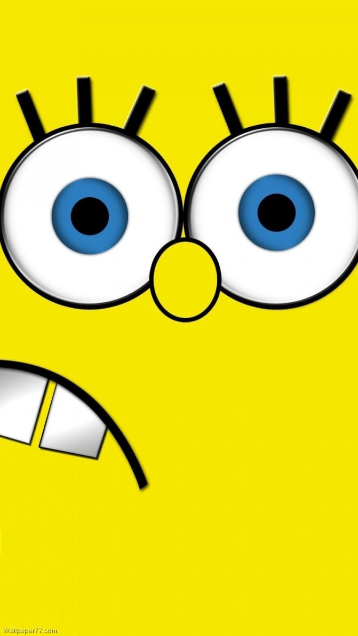 Sponge Bob Face  720x1280 HD Wallpaper