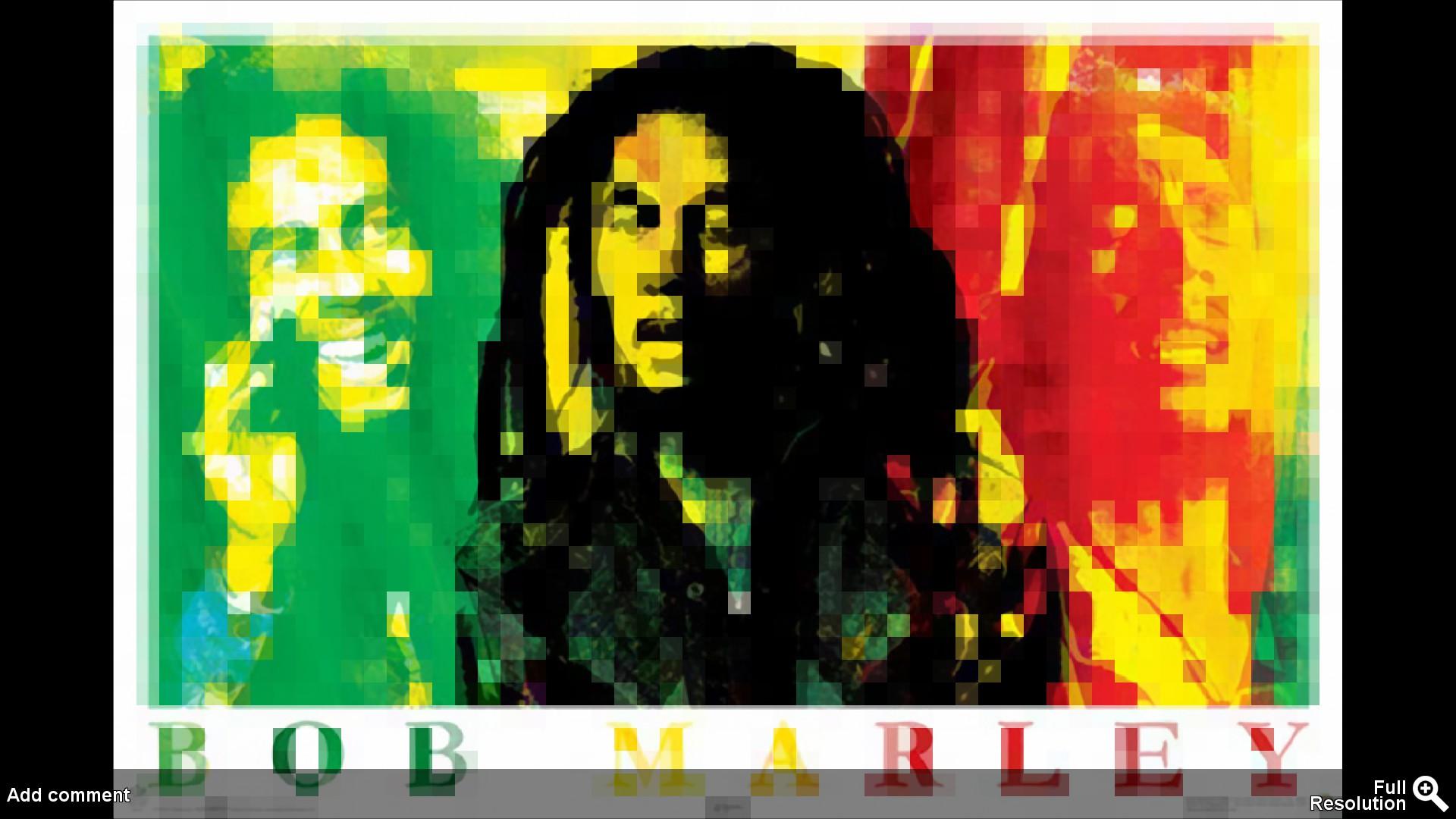 Bob Marley Wall Painting Time HD Wallpaper