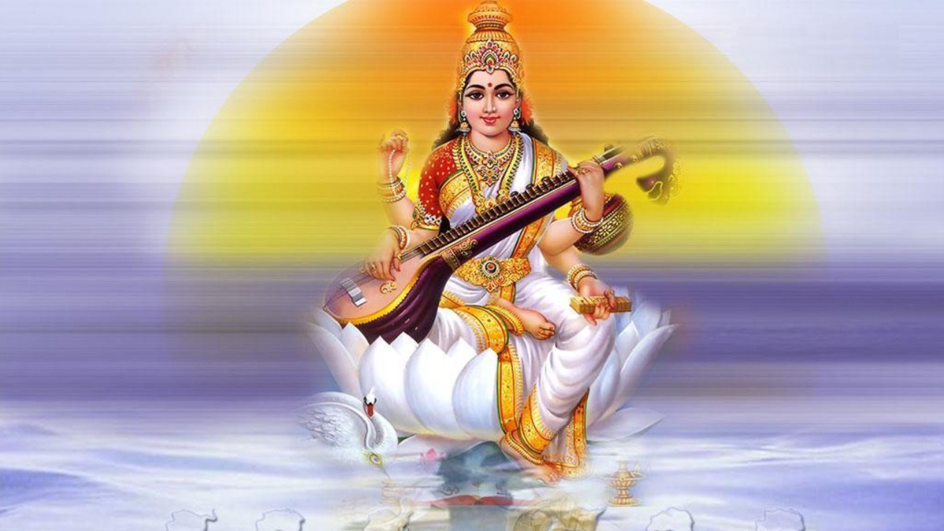 Saraswati HD Wallpaper