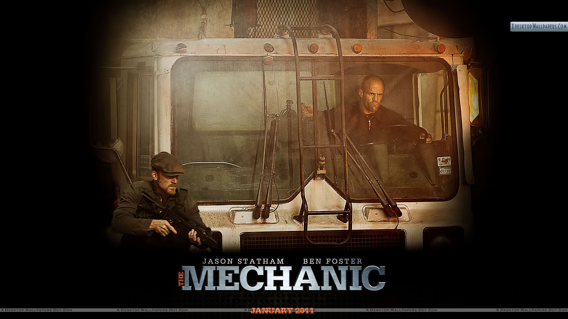 Jason Statham Driving Truck HD Wallpaper