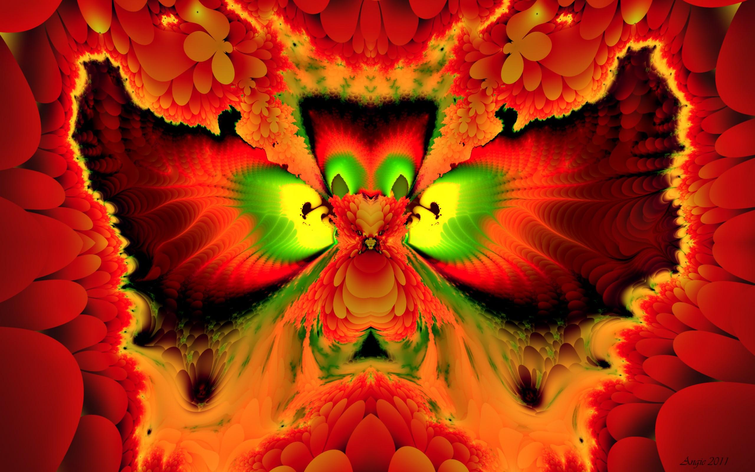 Phoenix  bird  fire  fractal  HD Wallpaper