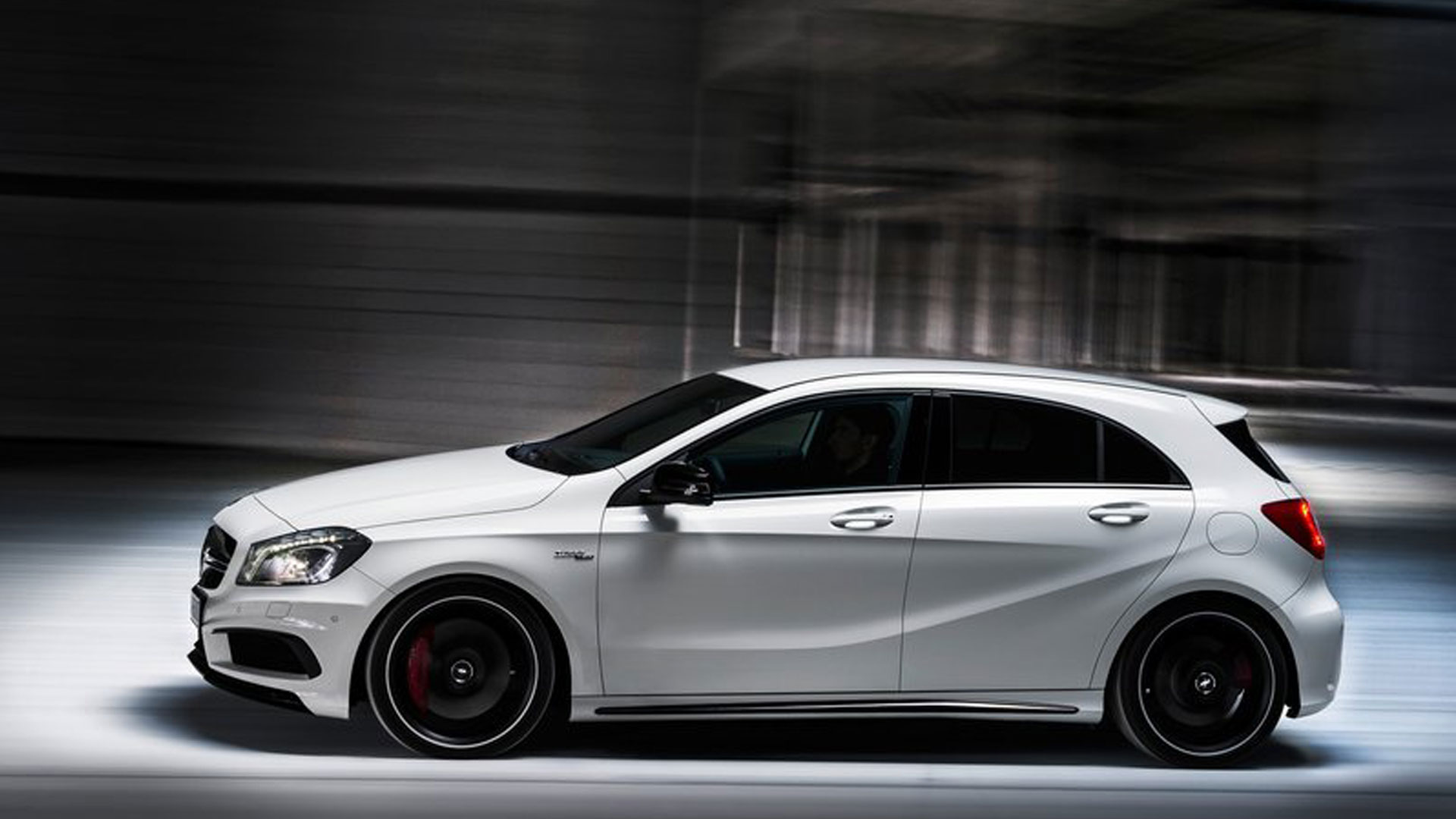2014 Mercedes AMG A45 engine HD Wallpaper