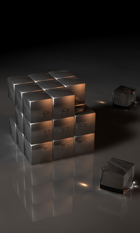 Rubic Cube  Category Abstract  Resolution 480x800  Tags present  HD Wallpaper