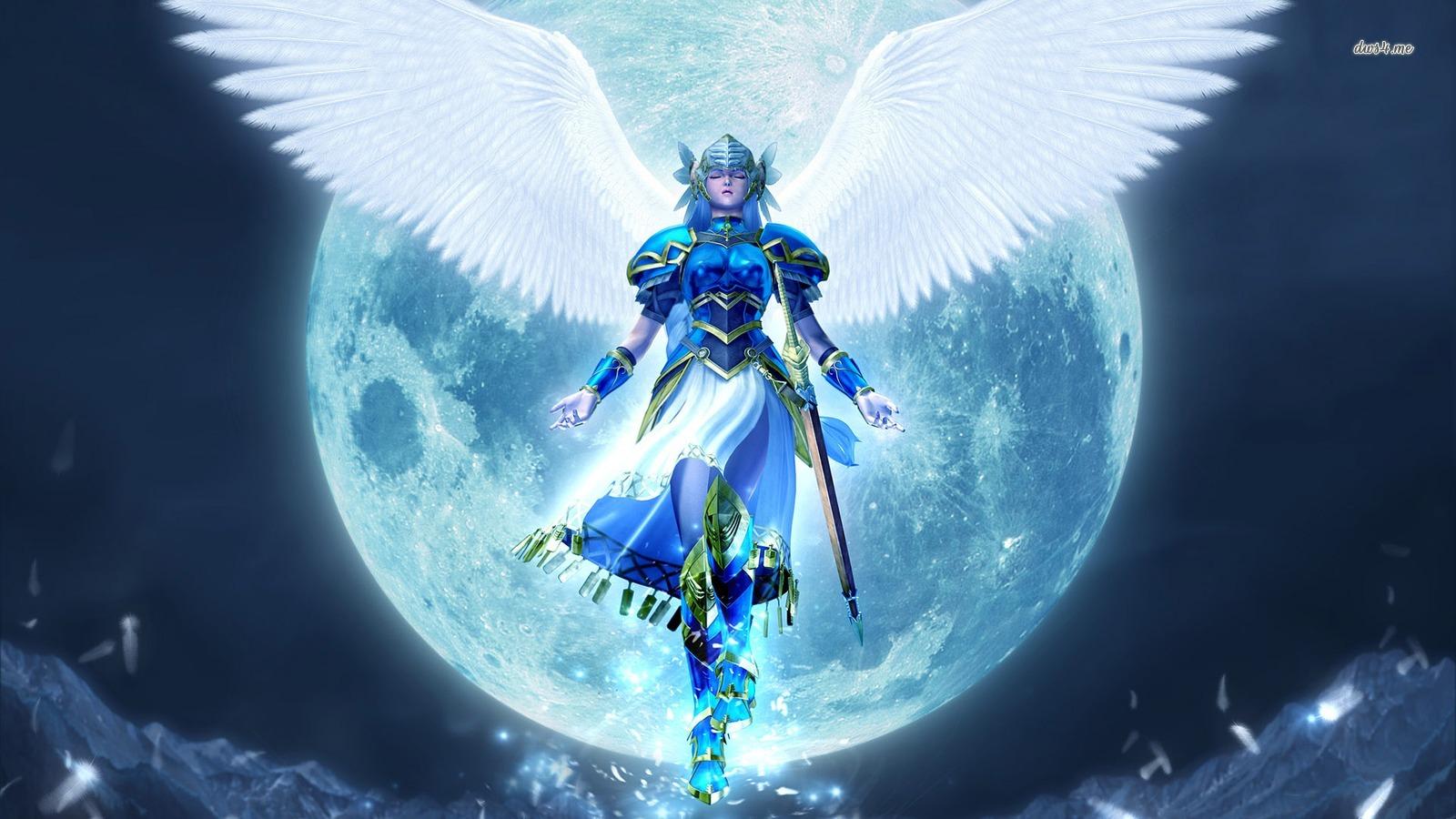 Man And Woman Angels Warrior HD Wallpaper