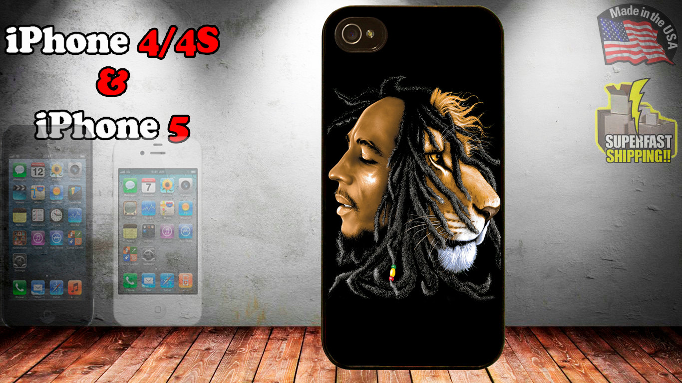 rasta bob marley lion iphone 4 4s 5 case  From designstudiobyicase HD Wallpaper