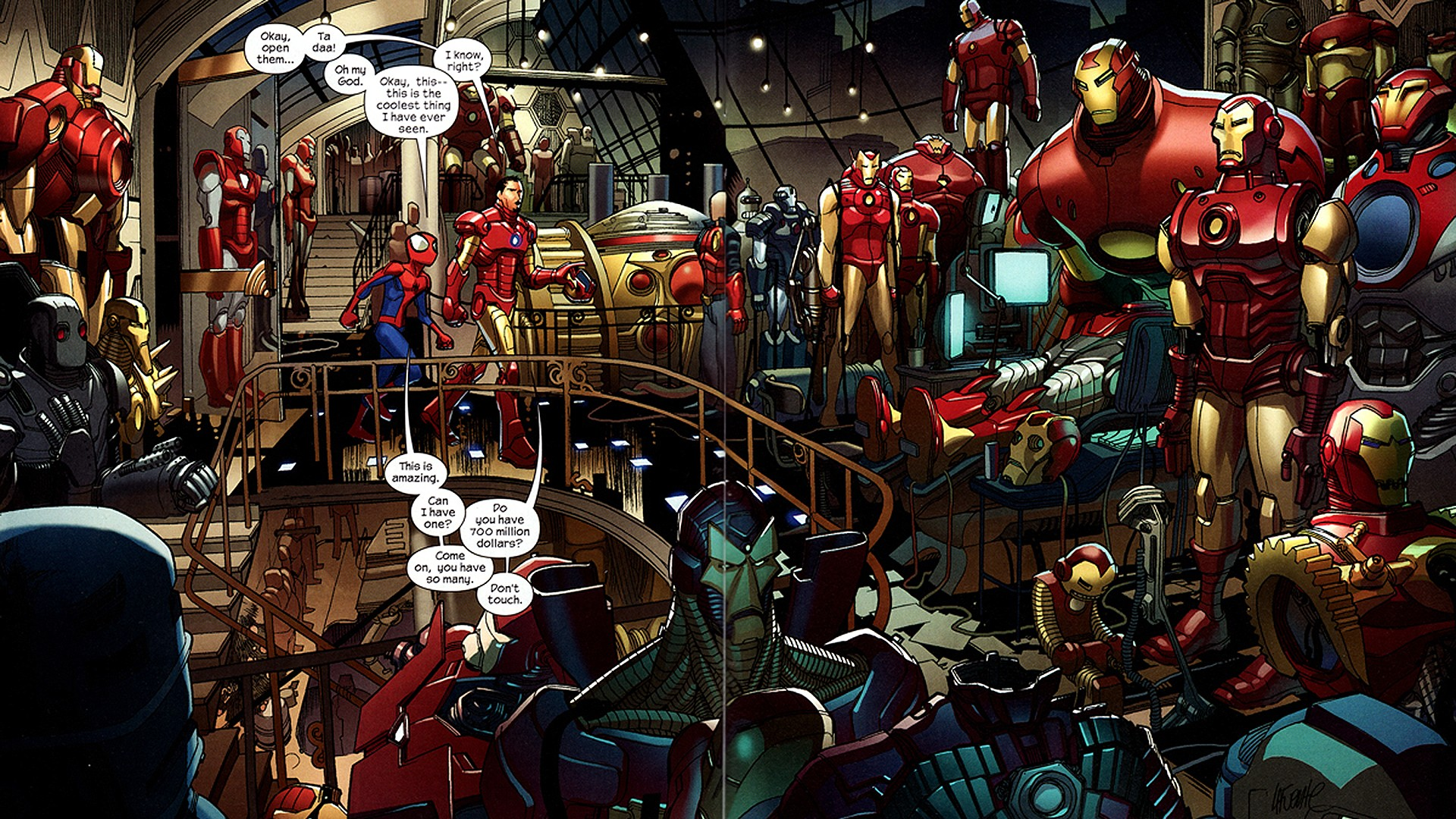 Iron Man comics Tony Stark HD Wallpaper