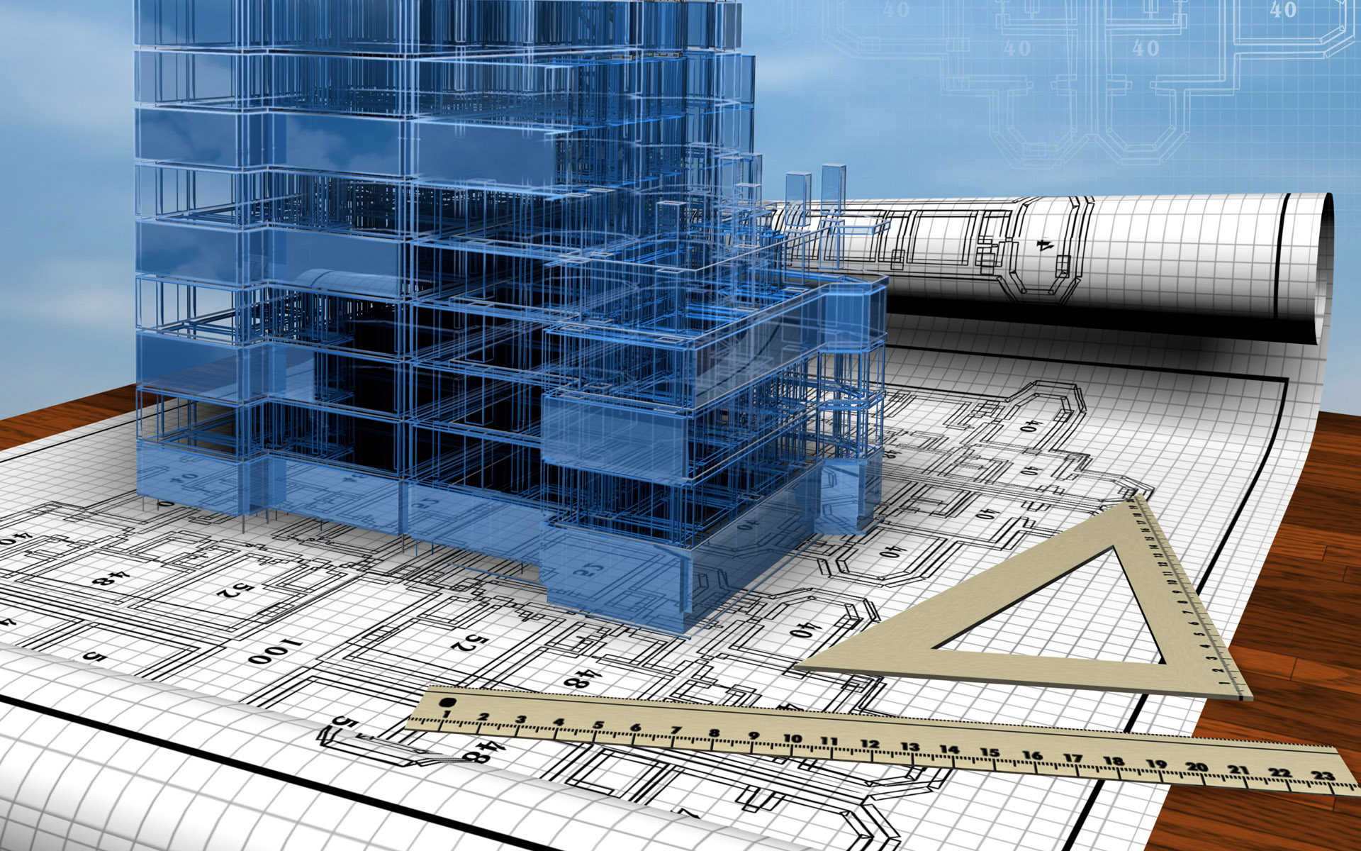 of building with design HD Wallpaper