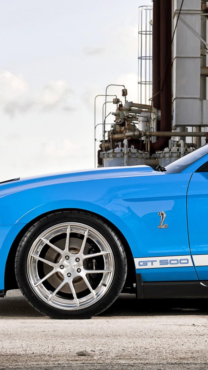 720x1280 Blue Ford Mustang HD Wallpaper