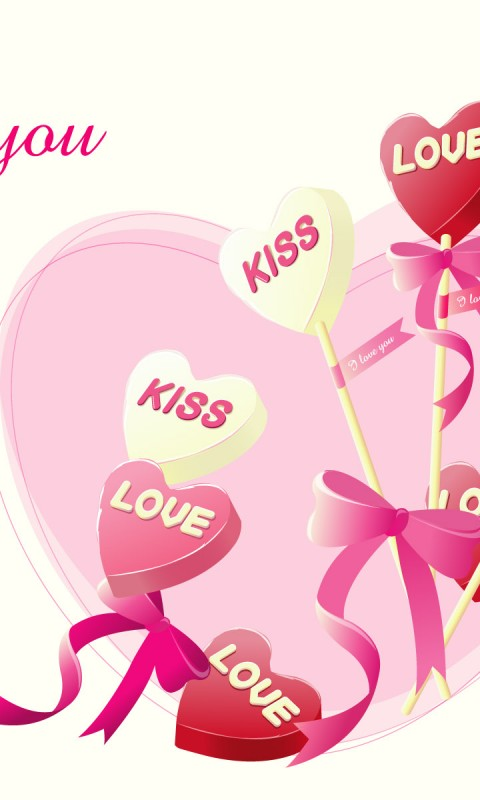 I Love You  Kiss    HD Wallpaper