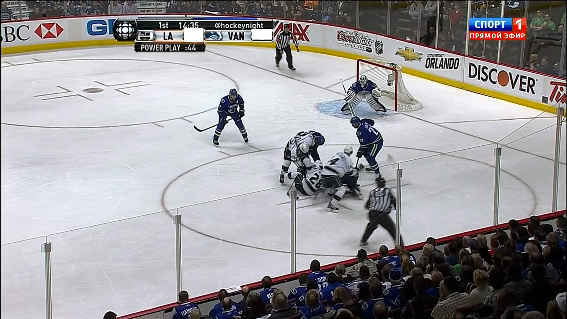 NHL Playoffs 2012   West   Round 1   Game 5   Los Angeles Kings   Vancuver HD Wallpaper