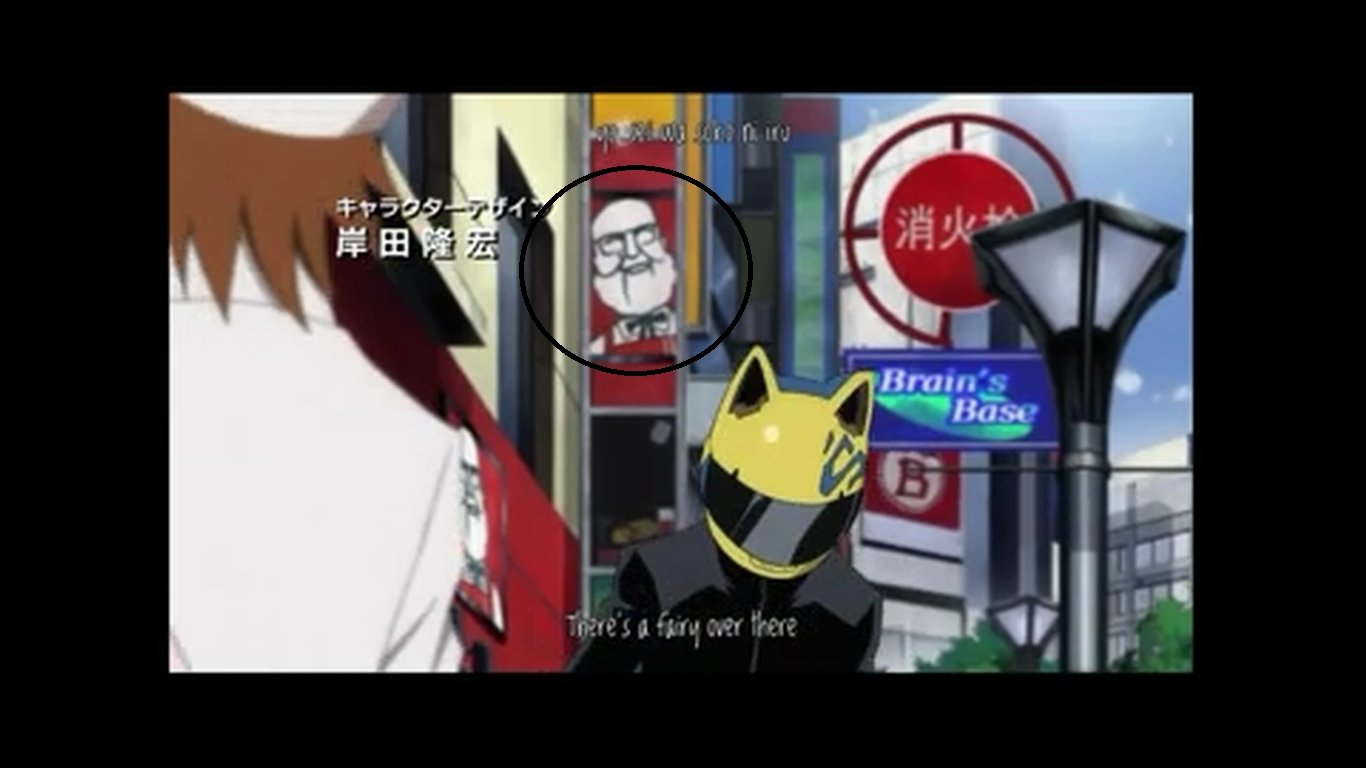 i was watching Durarara  and HD Wallpaper