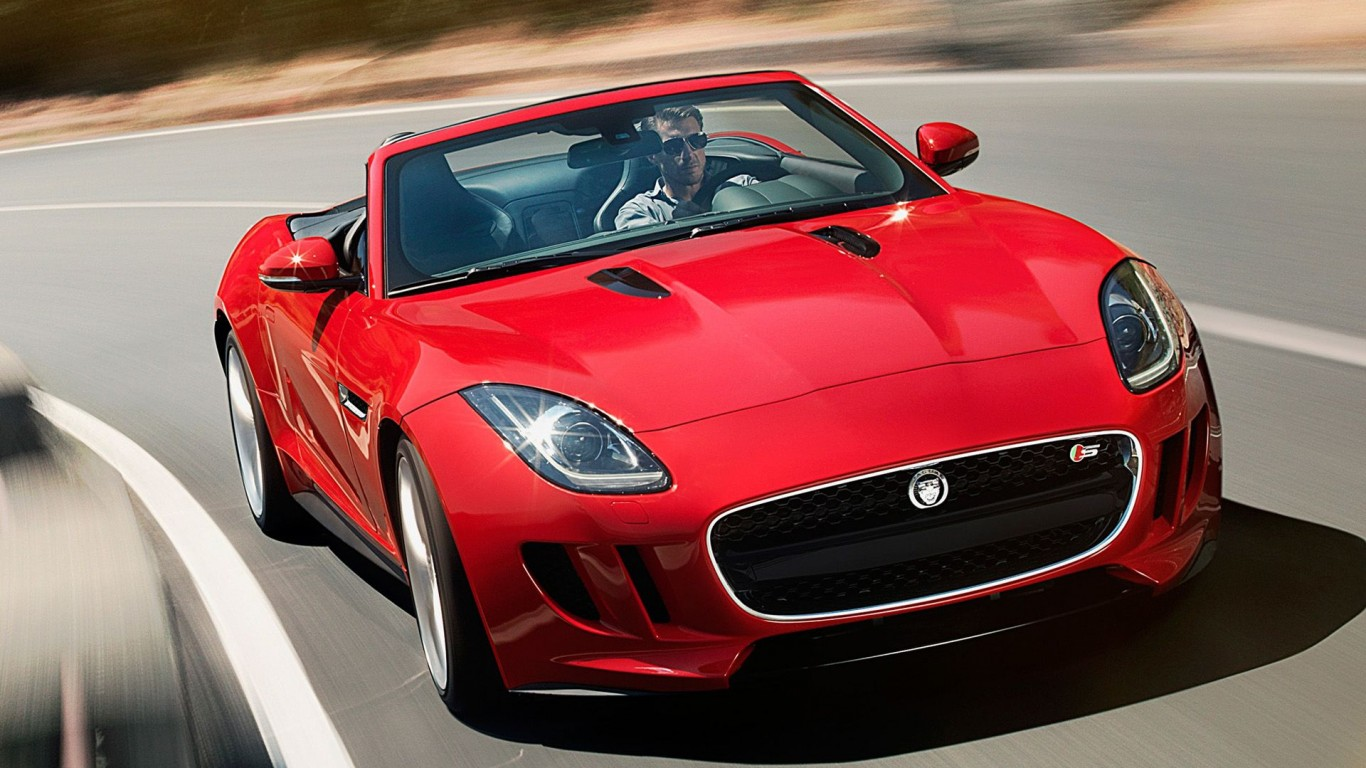 Jaguar F Type  New Jaguar  Cabrio  Roadster  Red  HD  HD Wallpaper