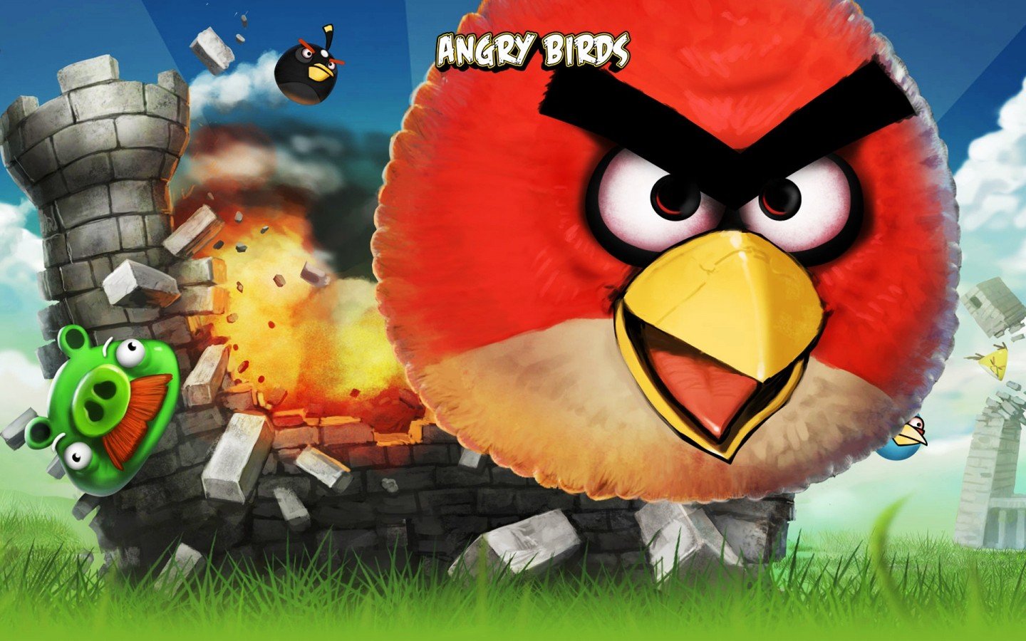 Angry Birds  Iphone Game HD Wallpaper