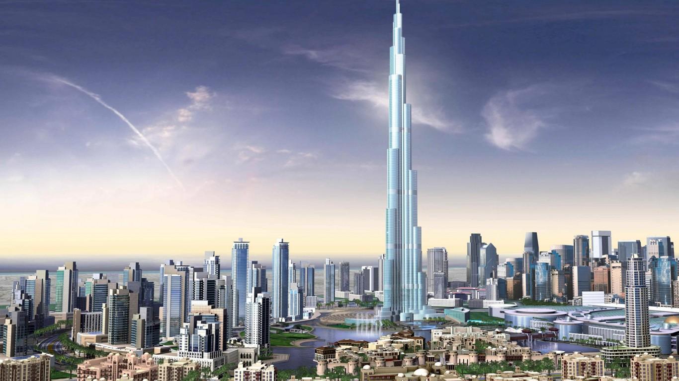 Download Burj Dubai Skyscrapers Uae HD Wallpaper