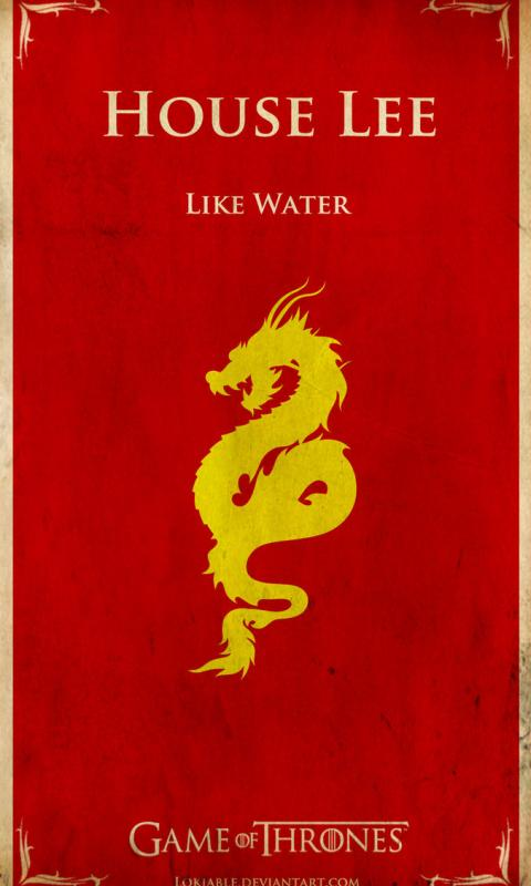 Bruce Lee Game of Thrones Style  for HTC Titan Phone HD Wallpaper