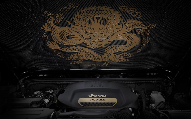 1440x900 2012 Jeep Wrangler Dragon Design Concept Carbon Fiber HD Wallpaper