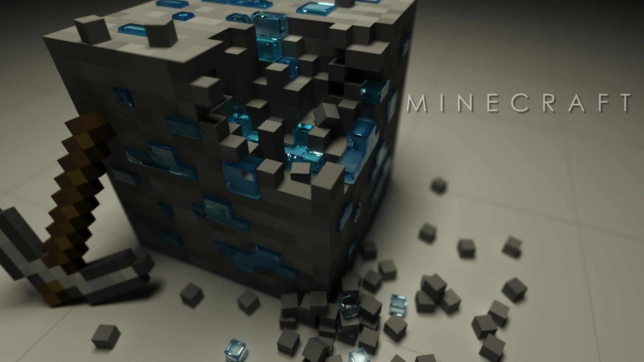 Minecraft   Game  Indie  Minecraft  Pickaxe  Computer HD Wallpaper