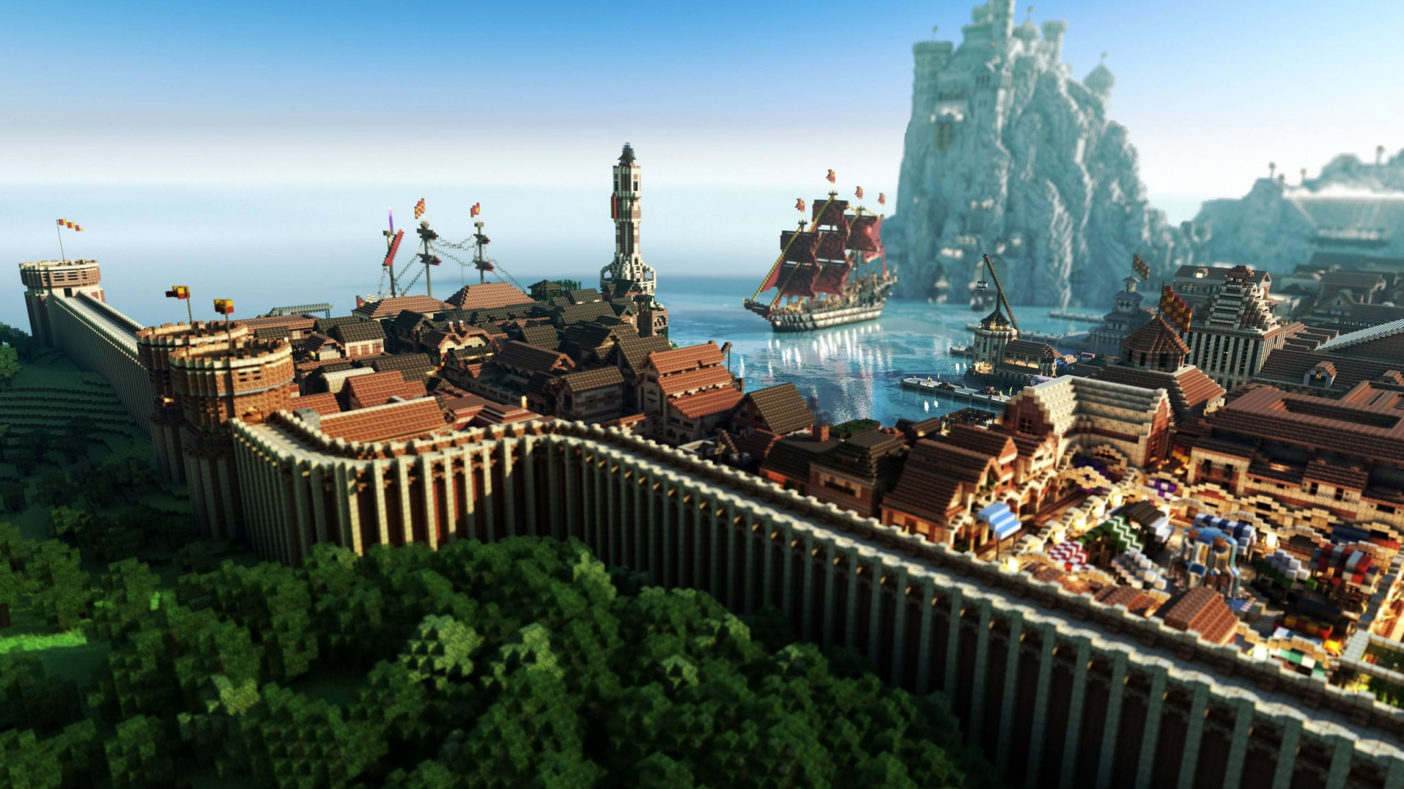 minecraft game of throne 884 2048x1152   HD Wallpaper