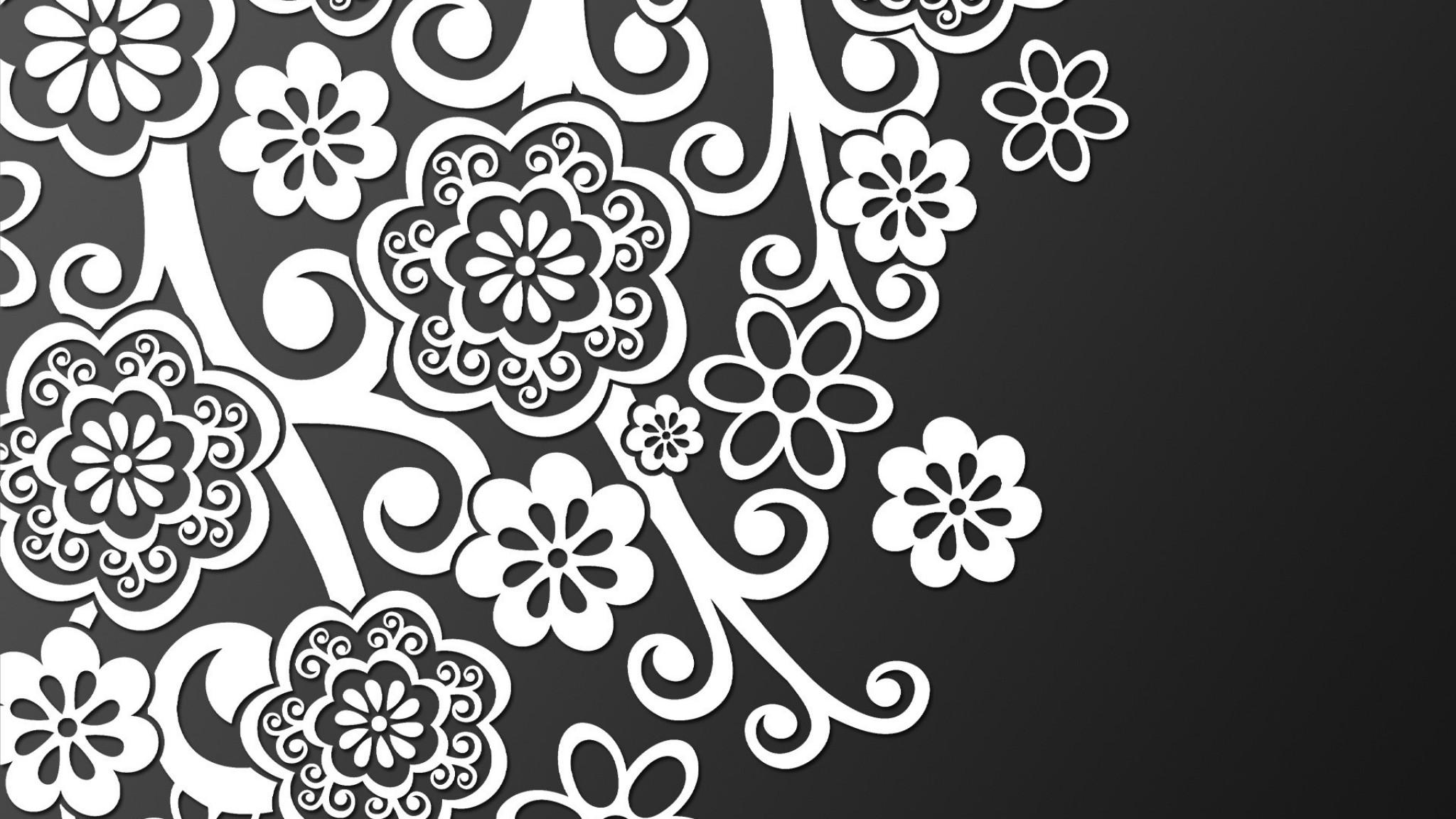 Black And White Lace   Desktop    wall  HD Wallpaper