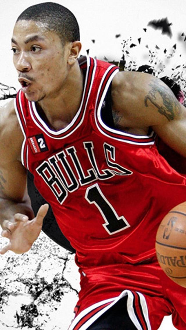 Derrick Rose  NBA   iPhone  HD HD Wallpaper