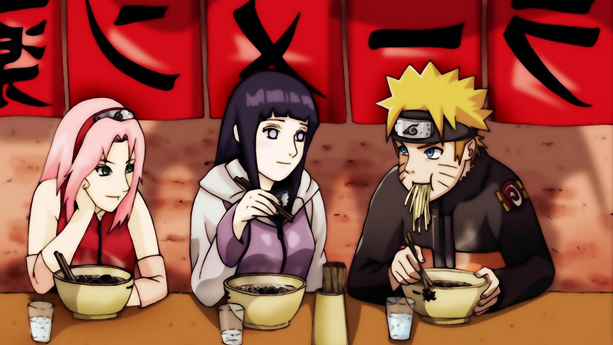 Haruno Sakura  Hyuuga  Hinata  Naruto  Uzumaki   tapety na plochu HD Wallpaper
