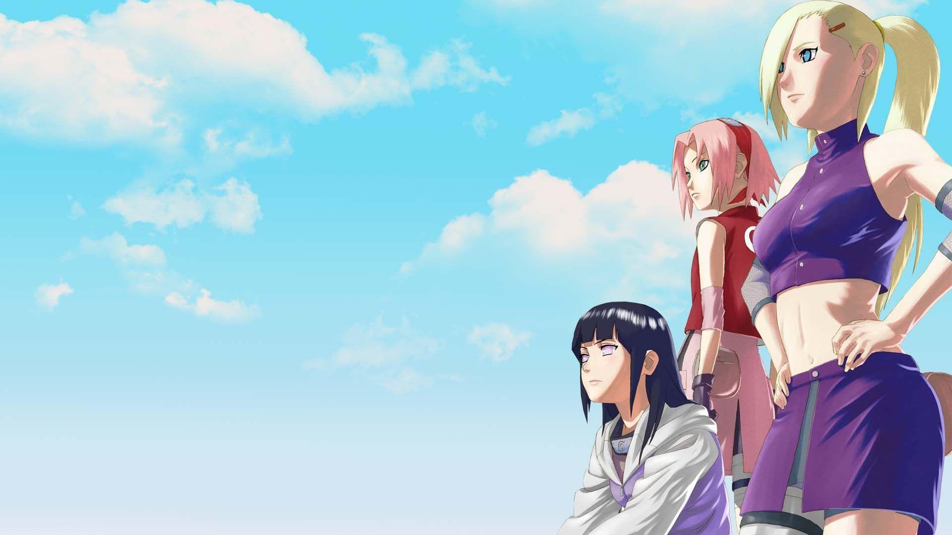 Girls from Naruto  Sakura Haruno  Hinata Hyuga  Ino Yamanaka   HD HD Wallpaper