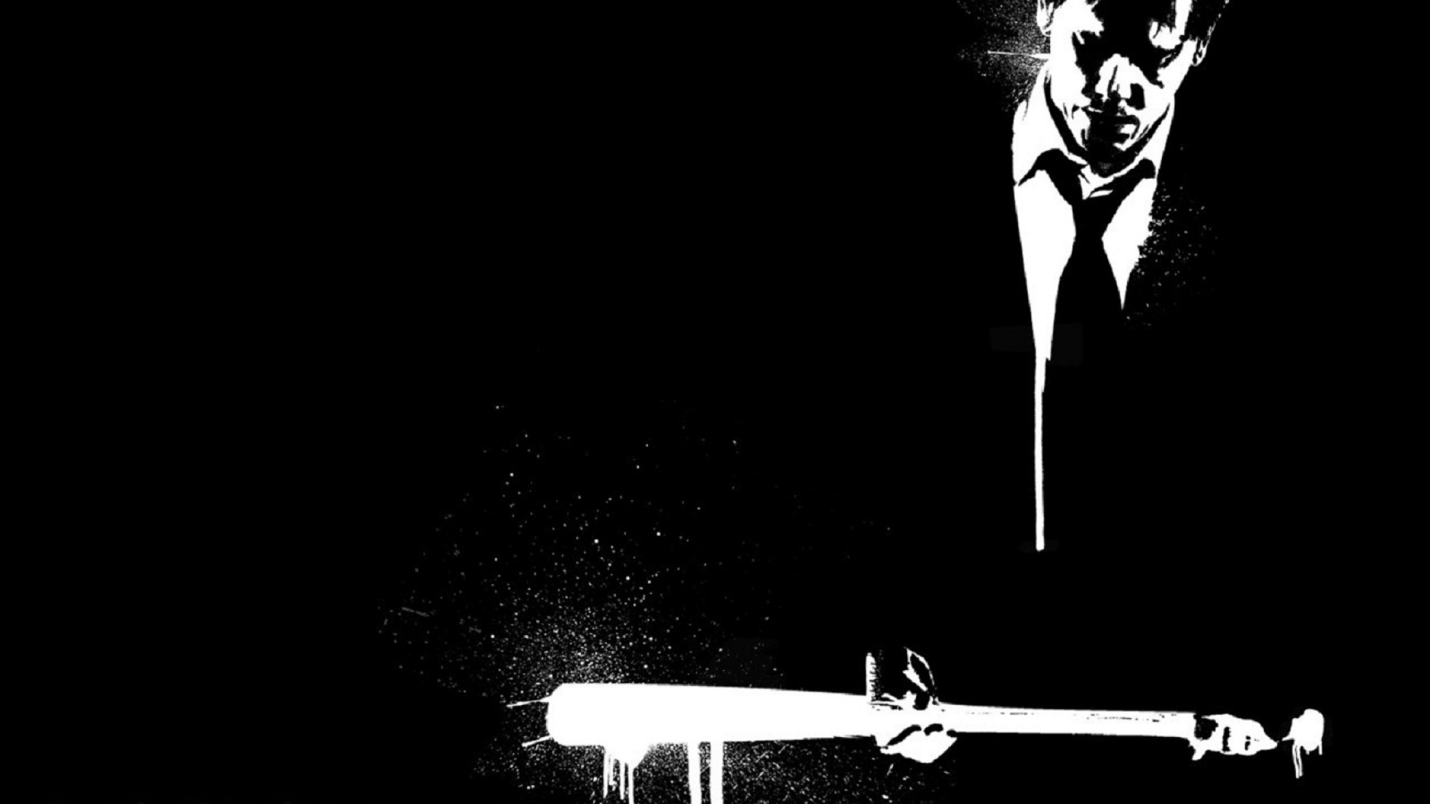 Death sentence  bw  black white  man  baseball bat  revenge   HD HD Wallpaper